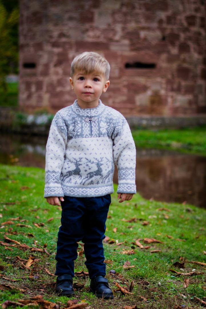"""Nordischer Wollpullover """"Wickie"""" Kinder"""
