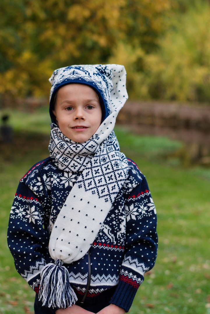 """Nordische Schalmütze """"Lupi"""" Kinder"""